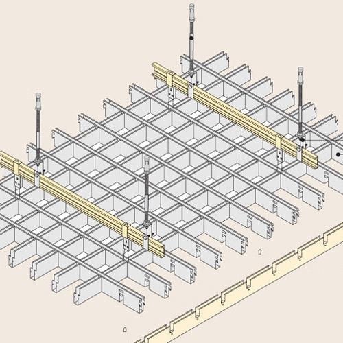铝格栅吊顶安装结构图